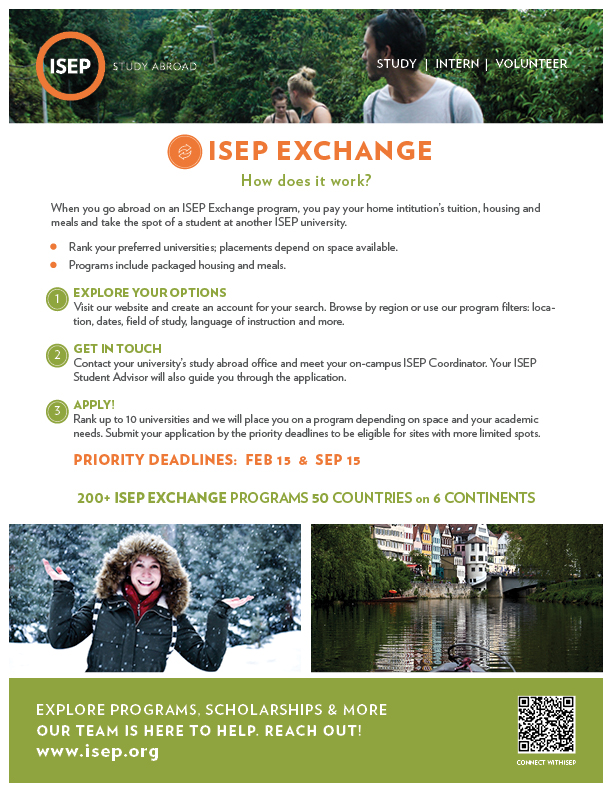 Isep Catalog And Flyer Study Abroad Personal Statement
